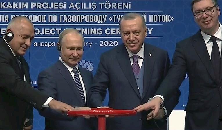 TürkAkım'da doğalgaz akışı başladı